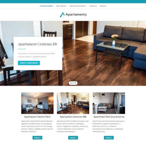 Strona internetowa dla firmy Apartamenty w Bielsku