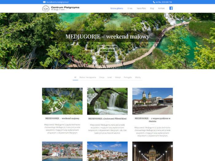 Strona internetowa biura podróży Centrum Pielgrzyma