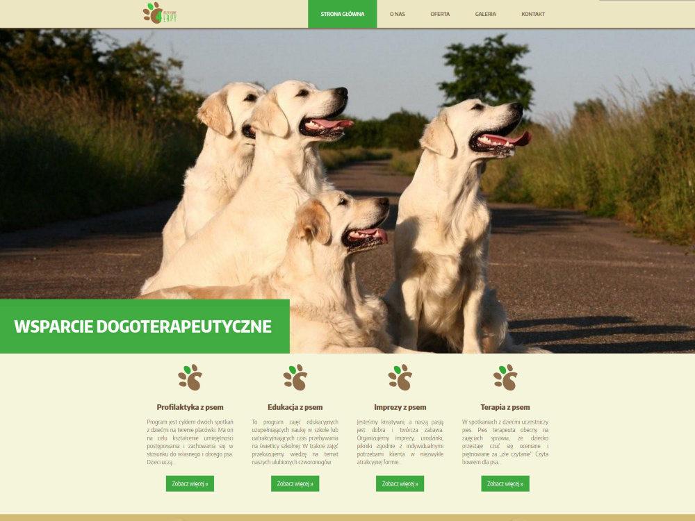 Strona www wykonana dla firmy 4łapy