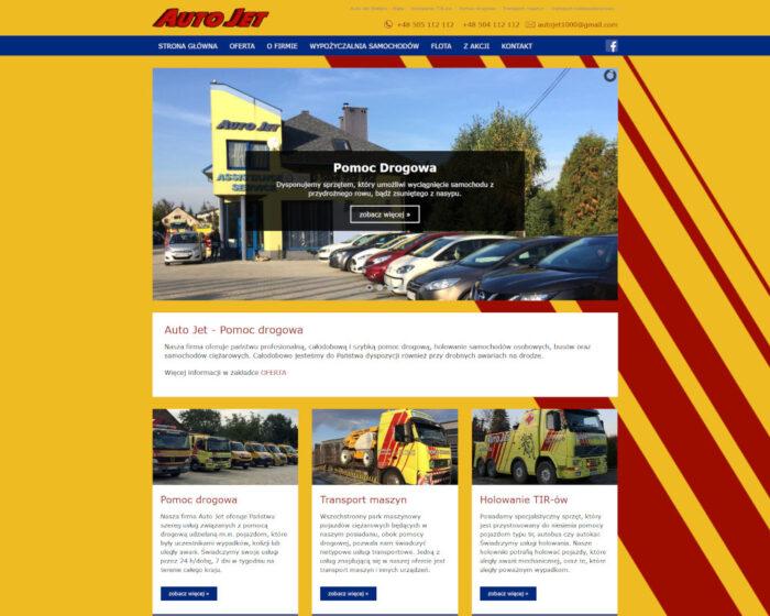 Strona www wykonana dla firmy Auto Jet