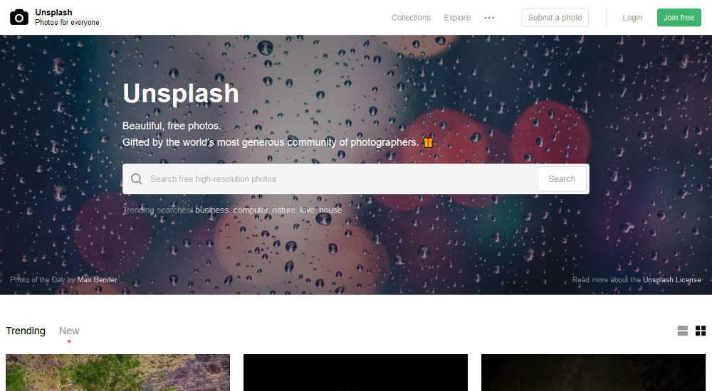 Unsplash darmowe zdjęcia