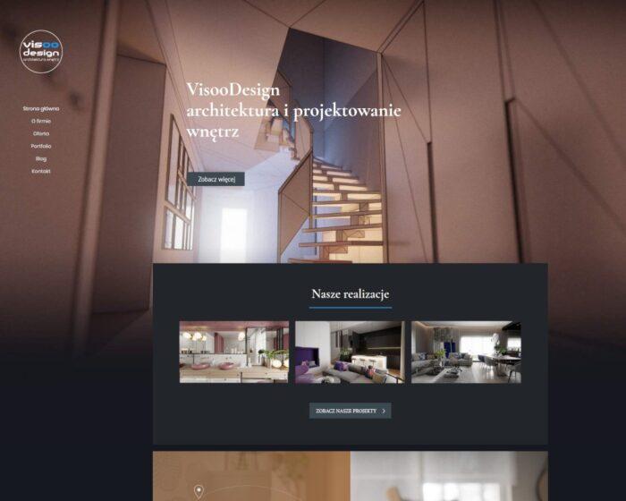 Strona intrnetowa dla firmy Visoo Design