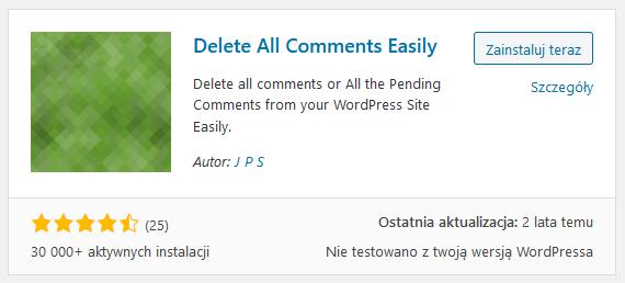 usuwanie komentarzy